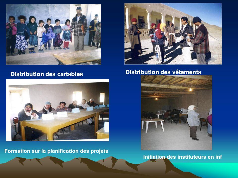 Distribution des vêtements Distribution des cartables