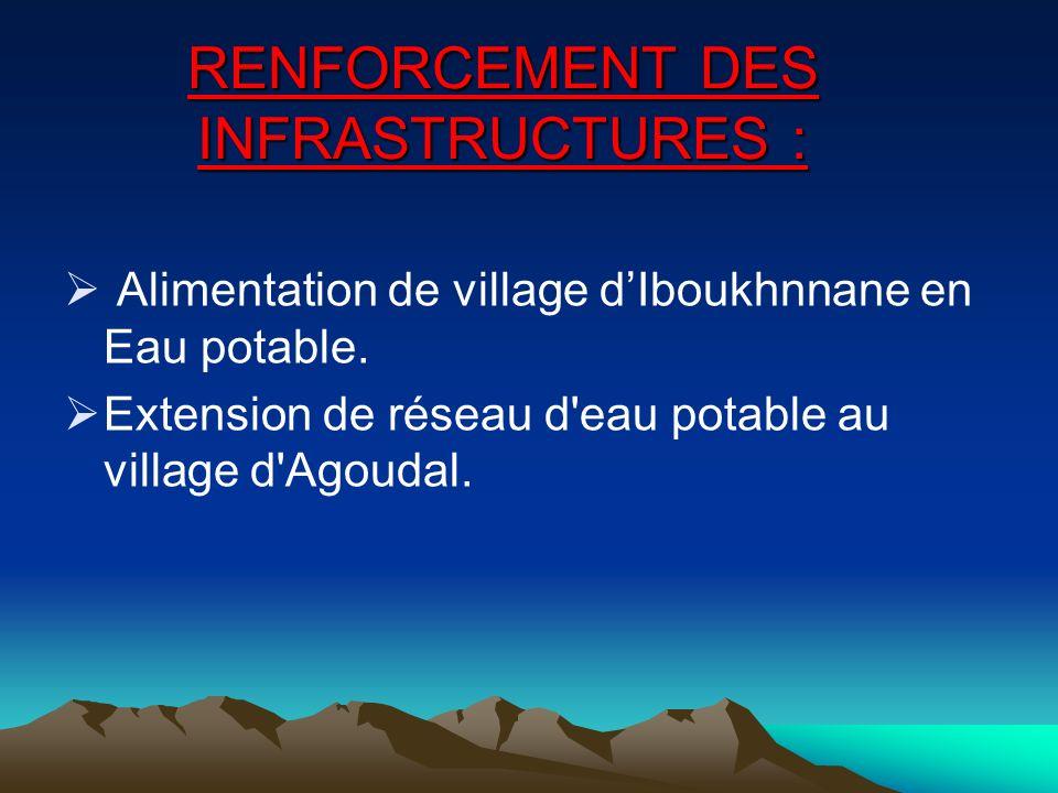 RENFORCEMENT DES INFRASTRUCTURES :