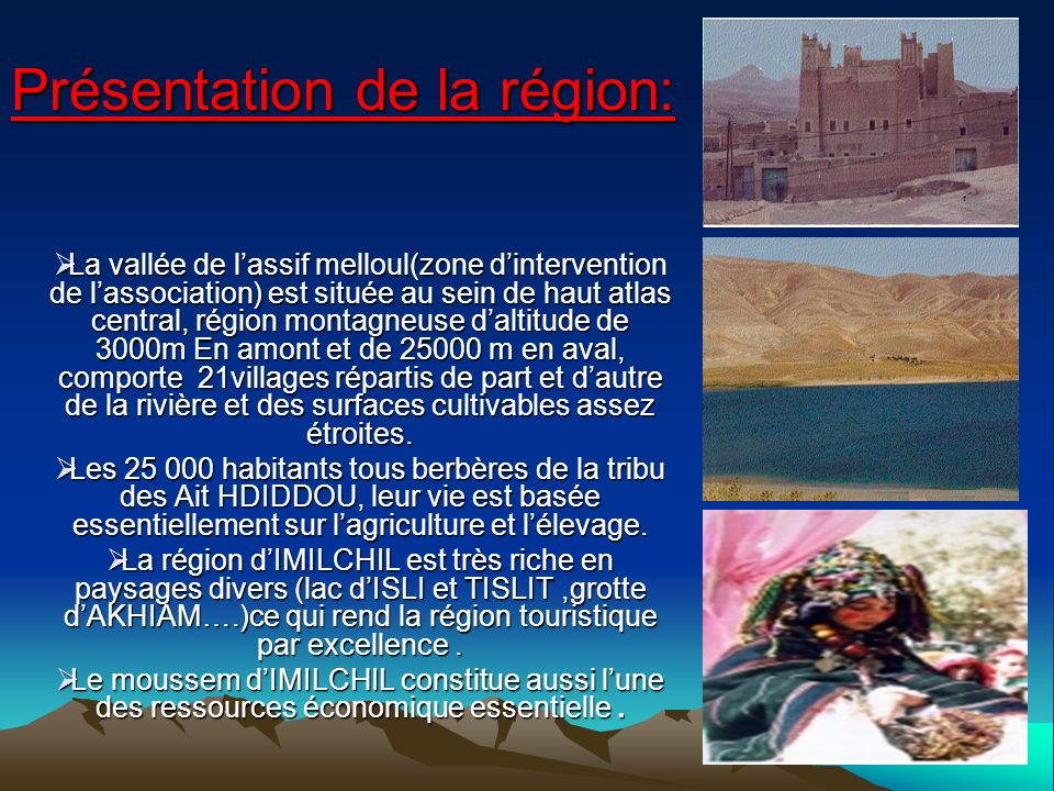 Présentation de la région: