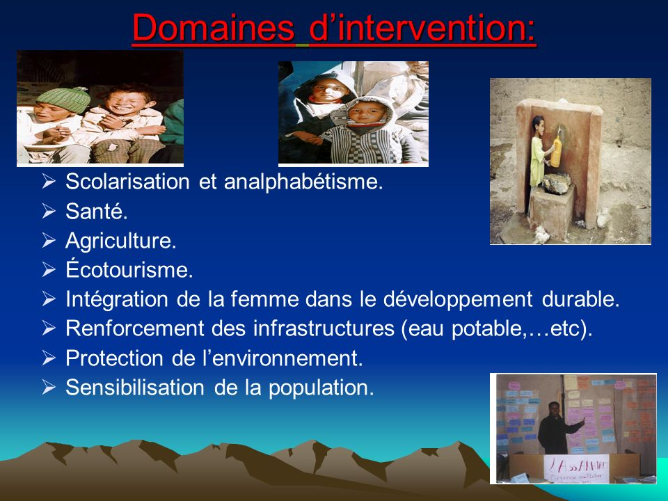 Domaines d'intervention: