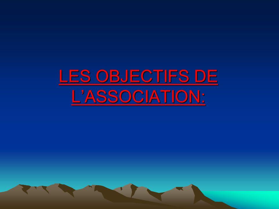 LES OBJECTIFS DE L'ASSOCIATION:
