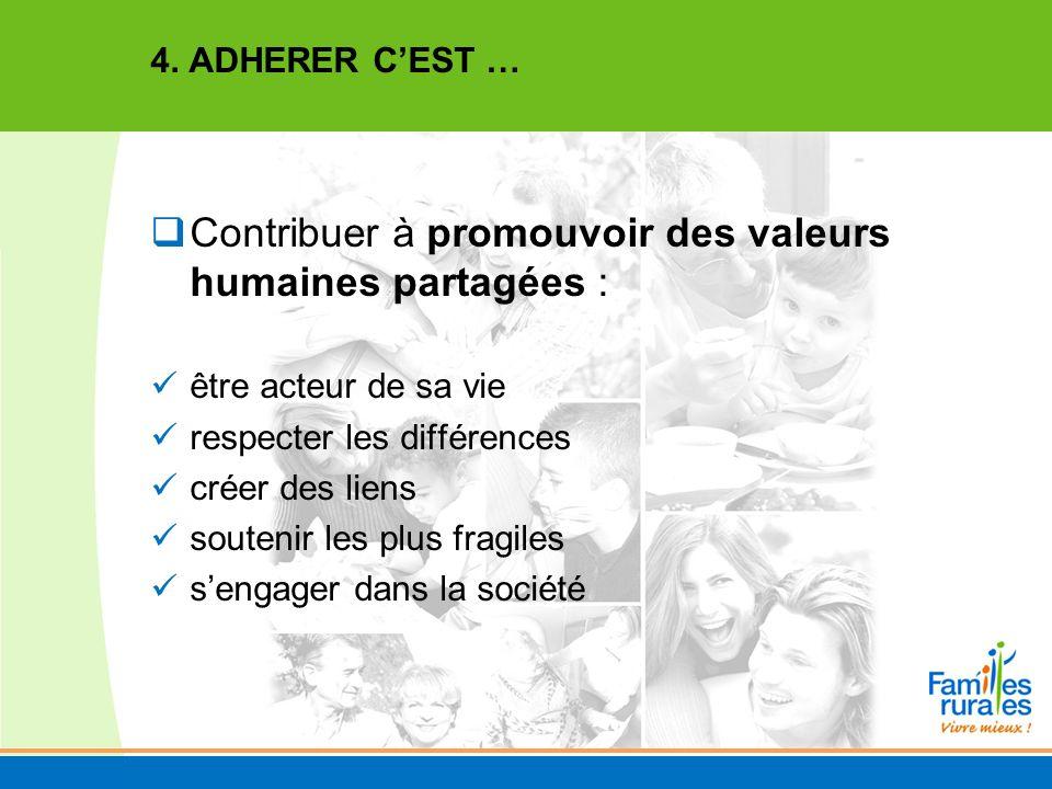 Contribuer à promouvoir des valeurs humaines partagées :
