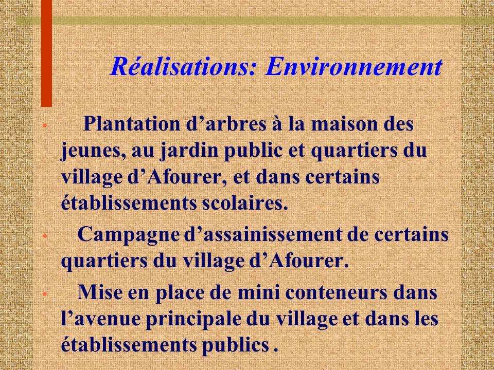 Réalisations: Environnement