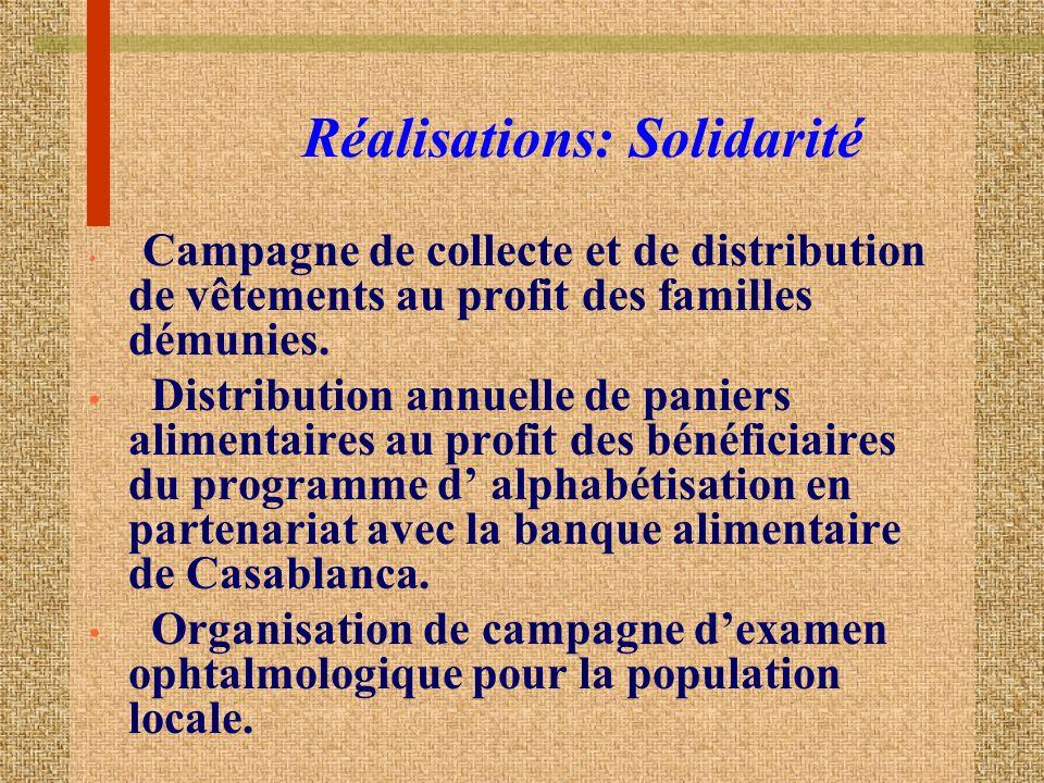 Réalisations: Solidarité