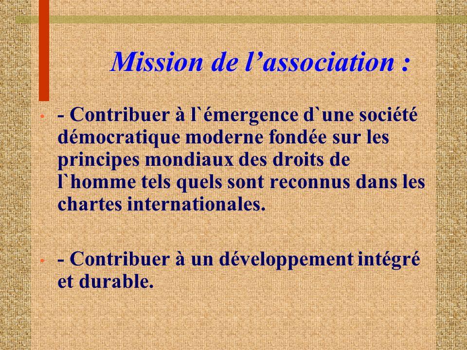 Mission de l'association :