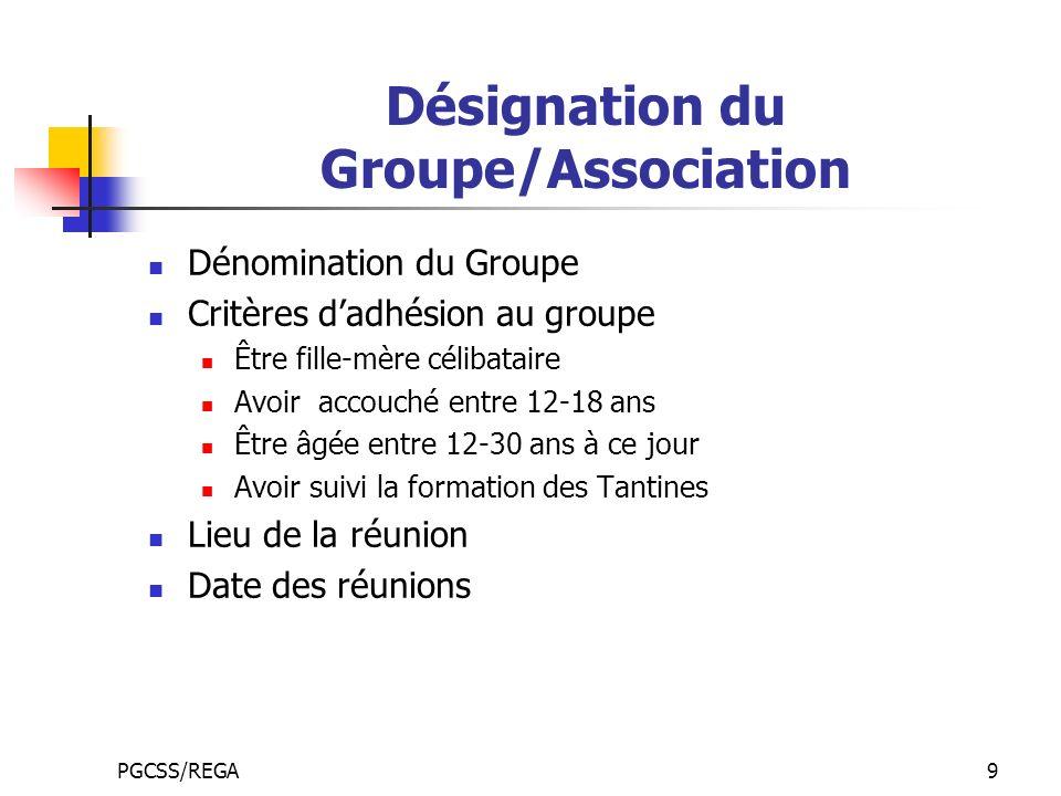 Désignation du Groupe/Association