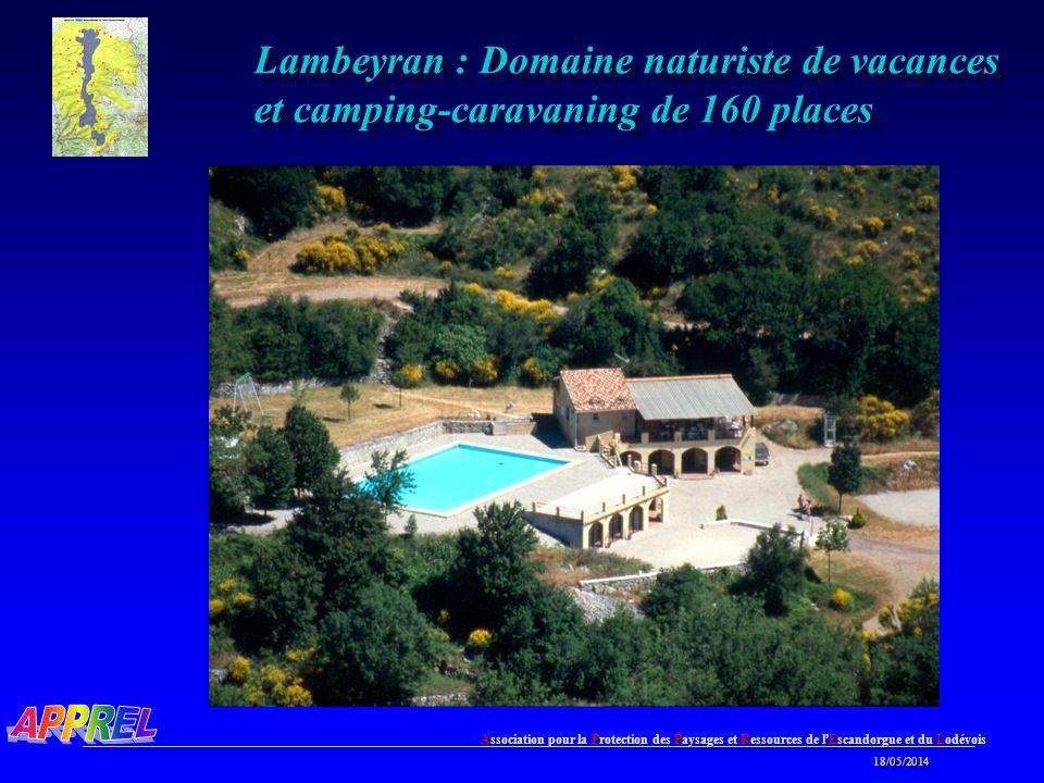 Lambeyran : Domaine naturiste de vacances et camping-caravaning de 160 places