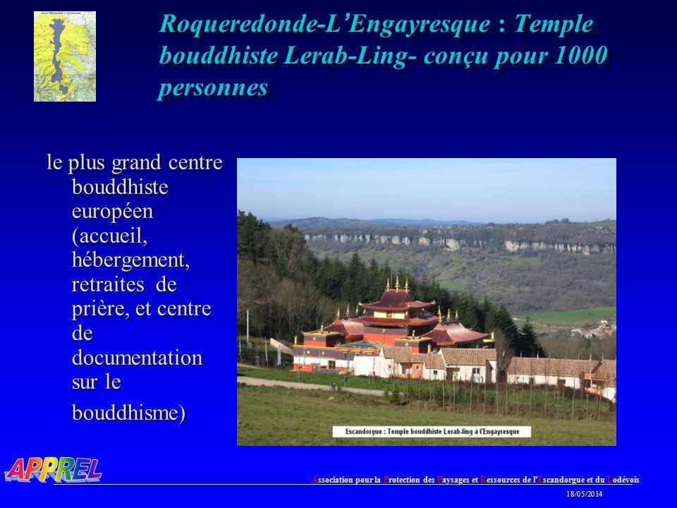 Roqueredonde-L'Engayresque : Temple bouddhiste Lerab-Ling- conçu pour 1000 personnes