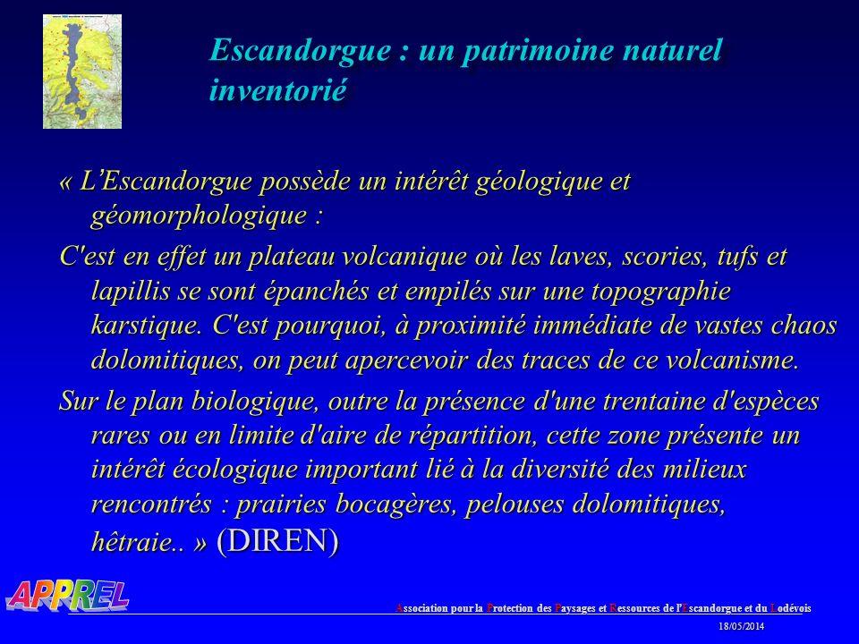 Escandorgue : un patrimoine naturel inventorié