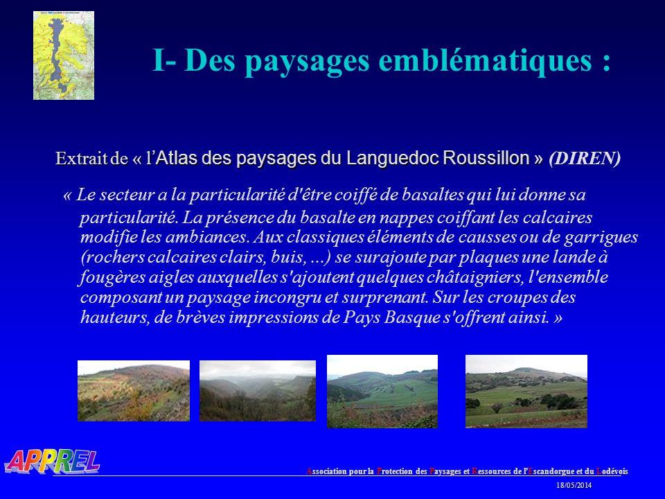 I- Des paysages emblématiques :