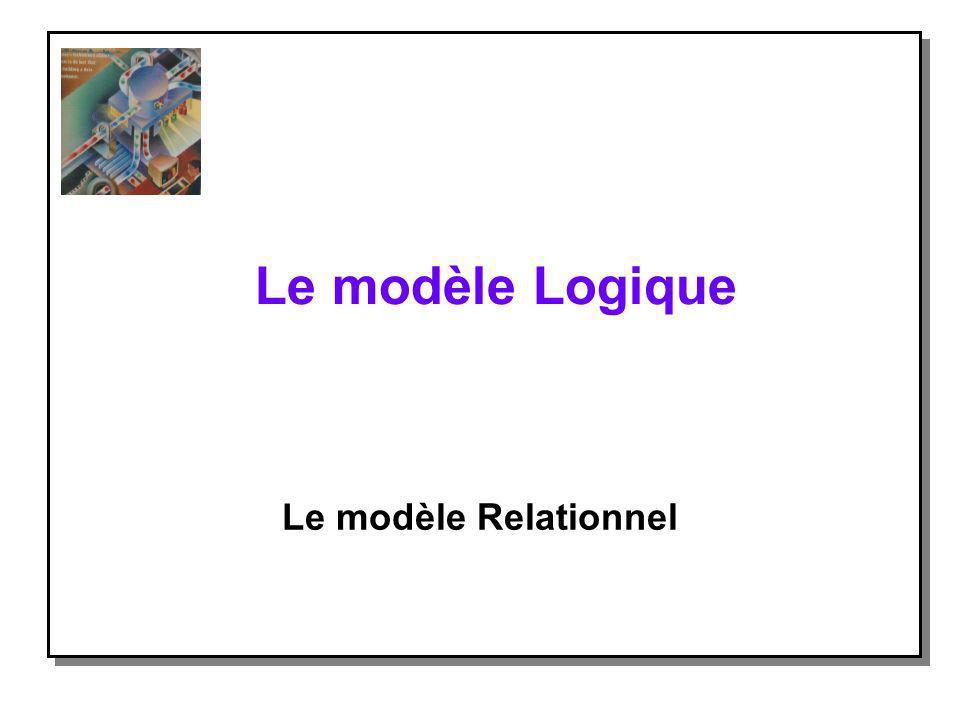 Le modèle Logique Le modèle Relationnel