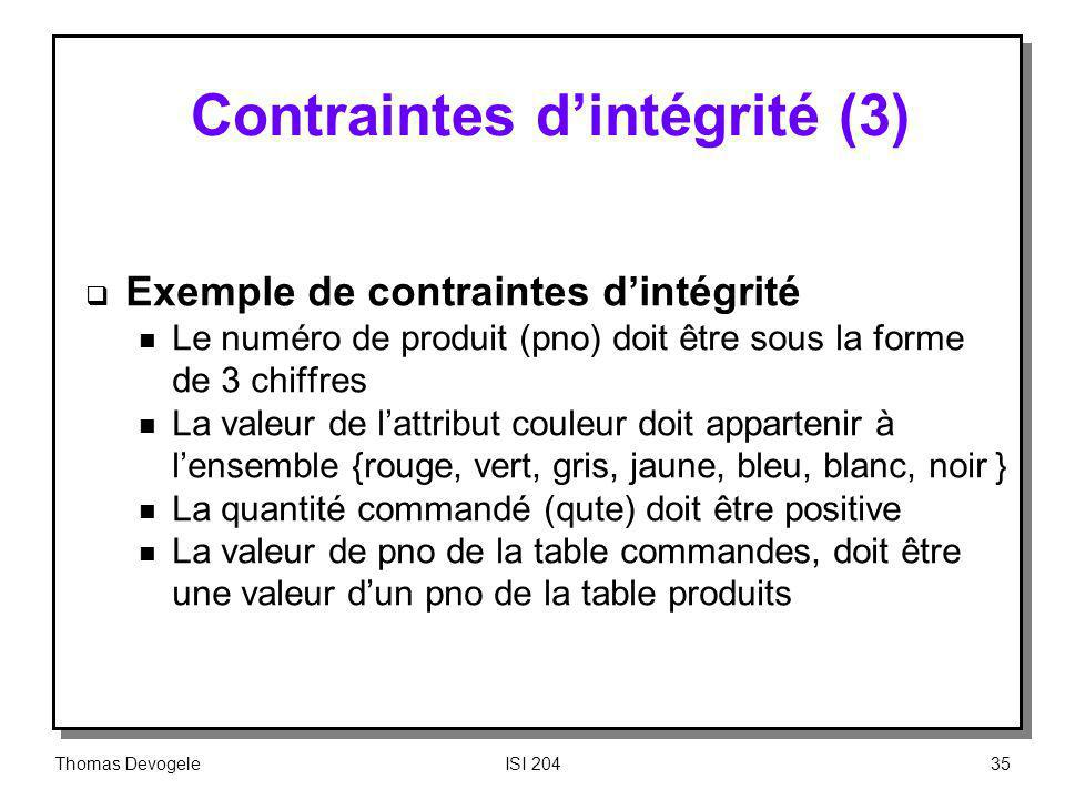 Contraintes d'intégrité (3)