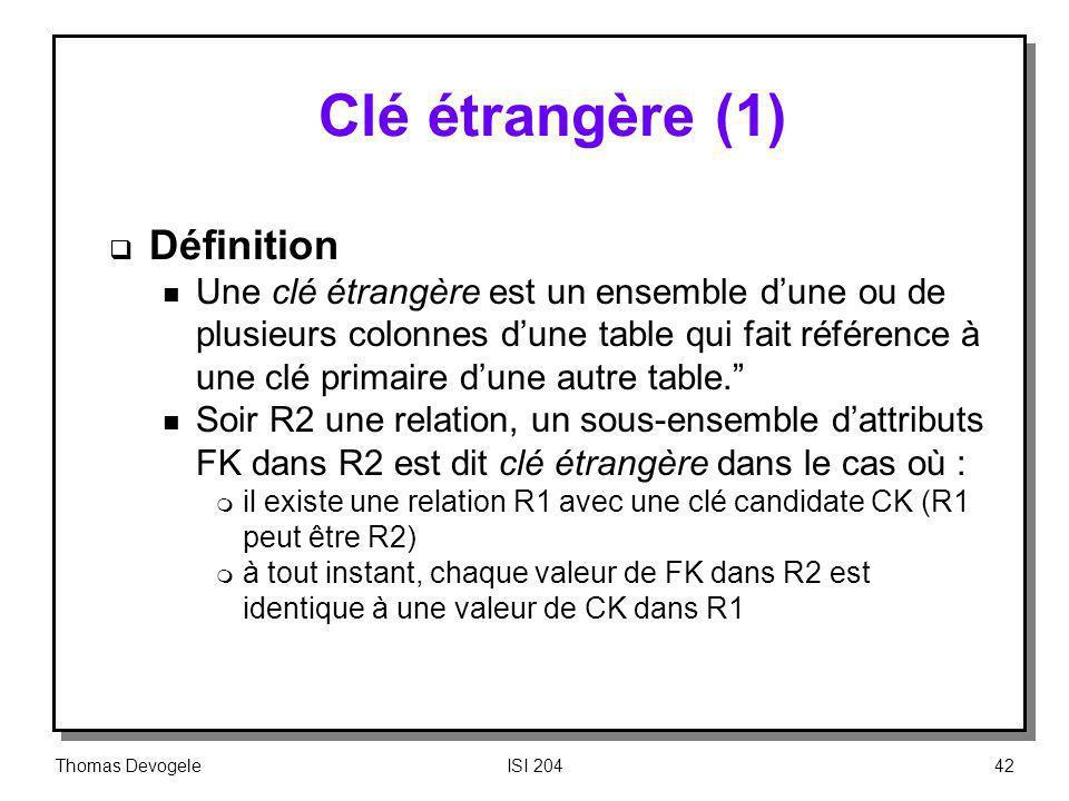 Clé étrangère (1) Définition