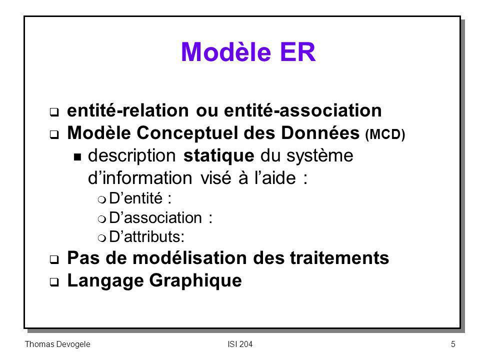 Modèle ER entité-relation ou entité-association