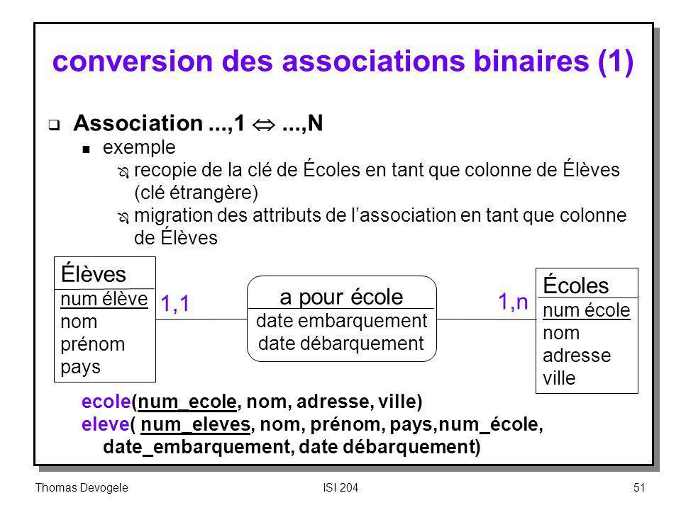 conversion des associations binaires (1)
