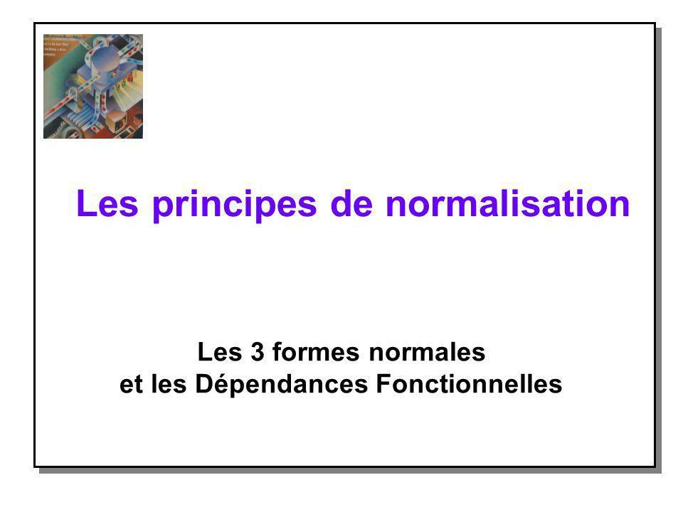 Les principes de normalisation
