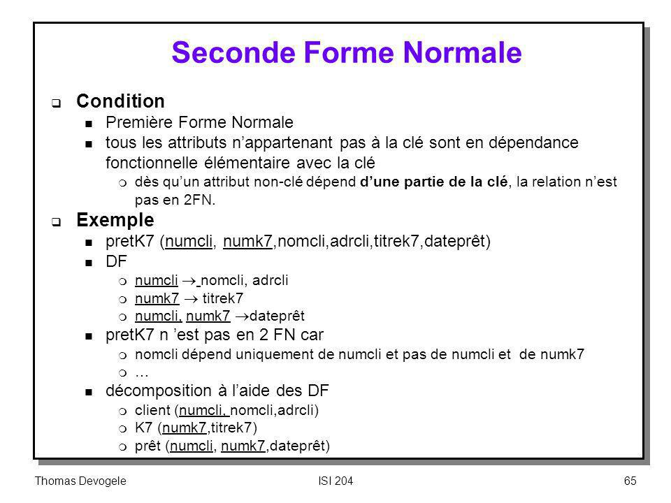 Seconde Forme Normale Condition Exemple Première Forme Normale