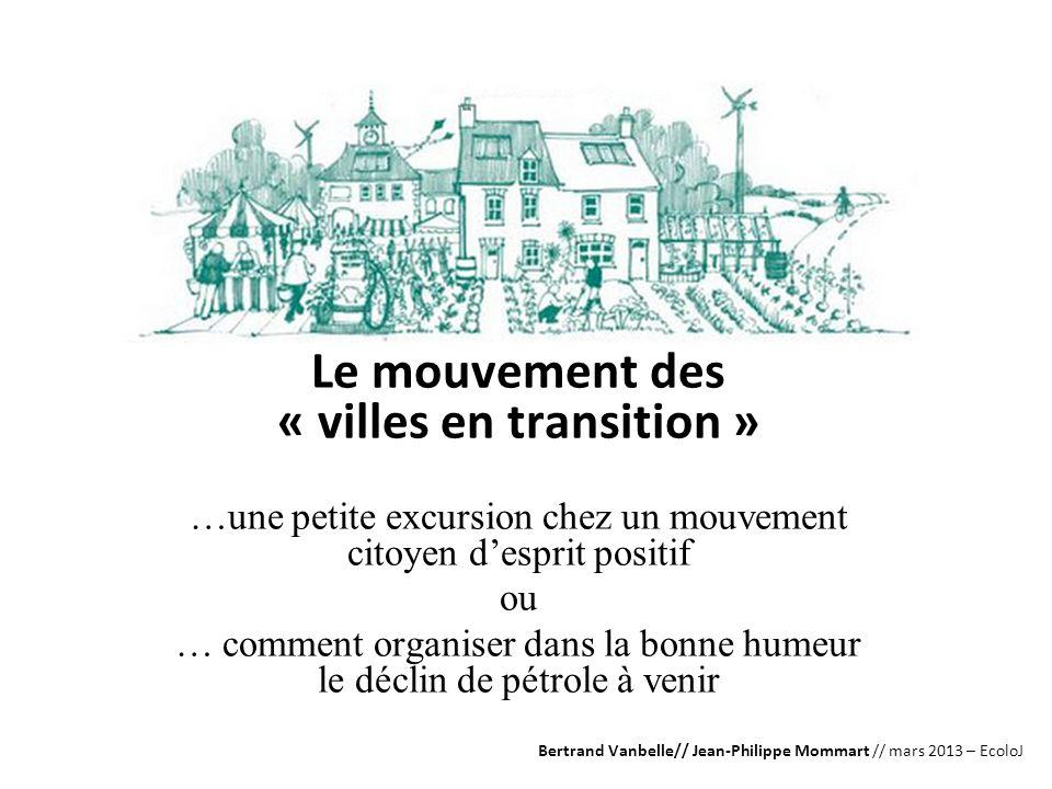 Le mouvement des « villes en transition »