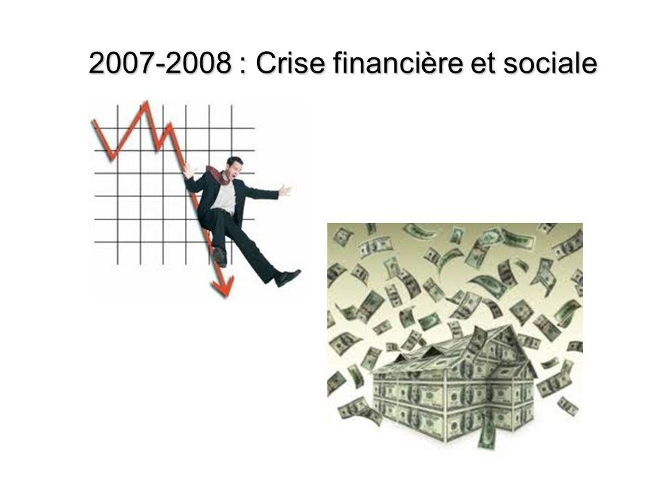 2007-2008 : Crise financière et sociale