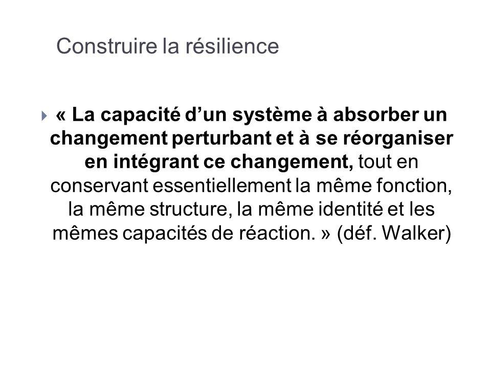 Construire la résilience
