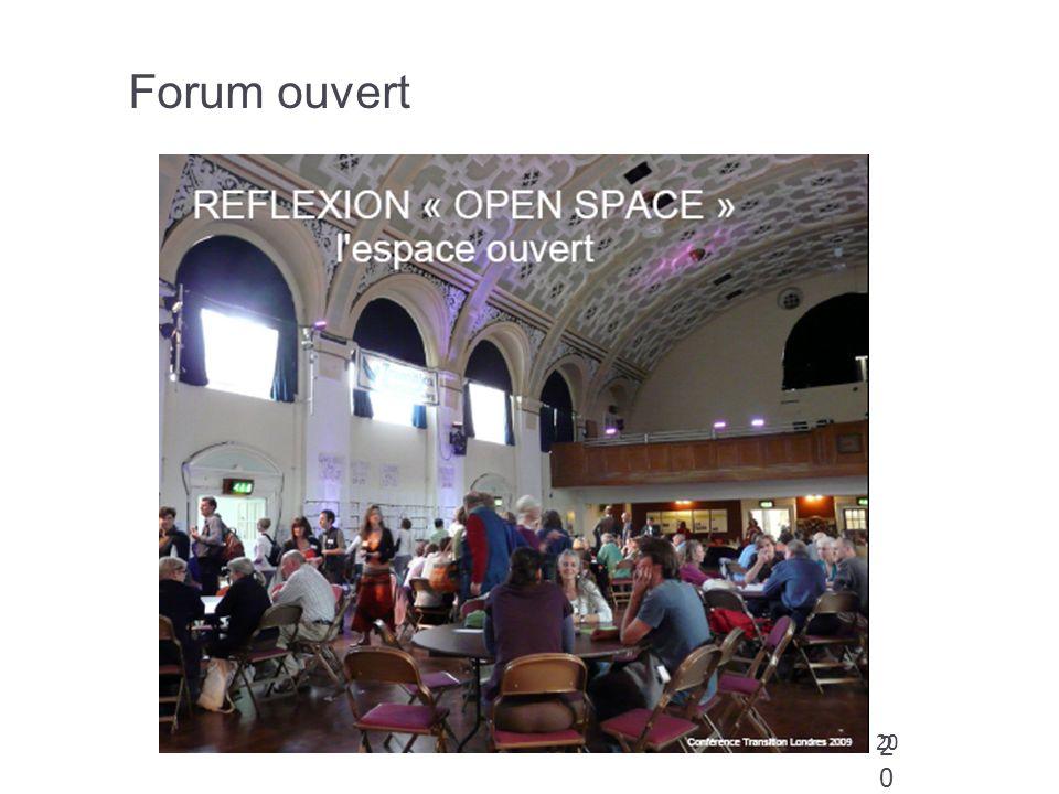 Forum ouvert 20