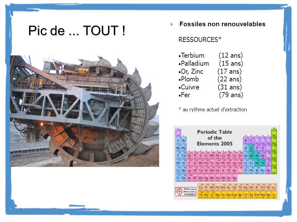 Pic de ... TOUT ! CHONPS : Pablo Fossiles non renouvelables