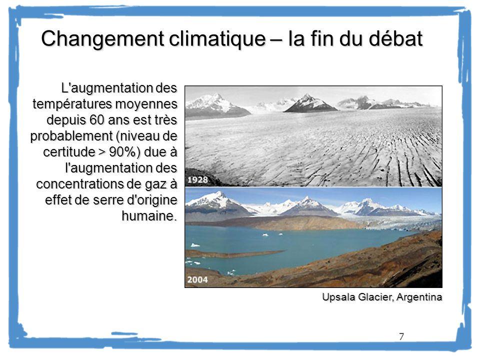 Changement climatique – la fin du débat