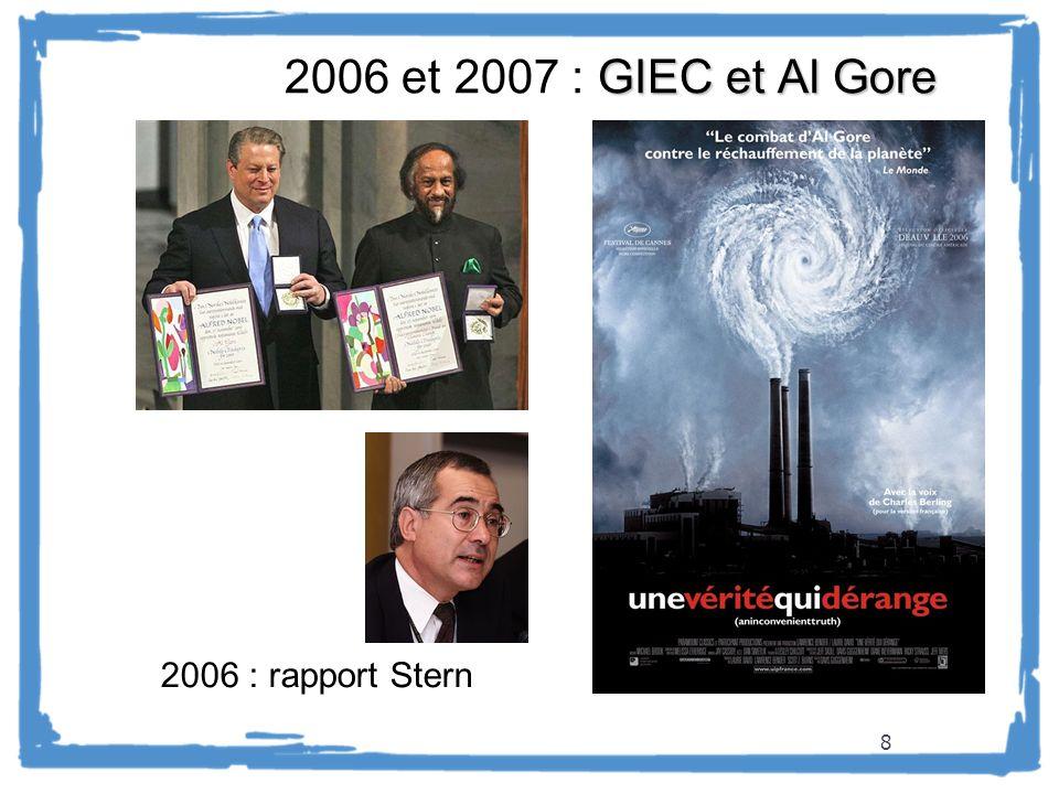 2006 et 2007 : GIEC et Al Gore 2006 : rapport Stern