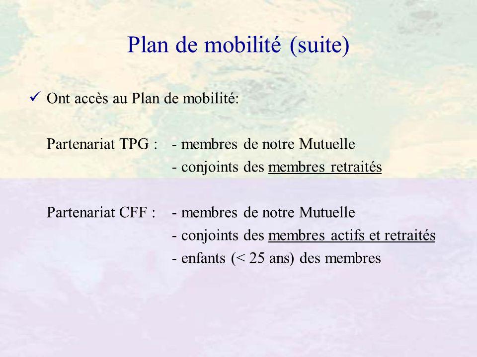 Plan de mobilité (suite)