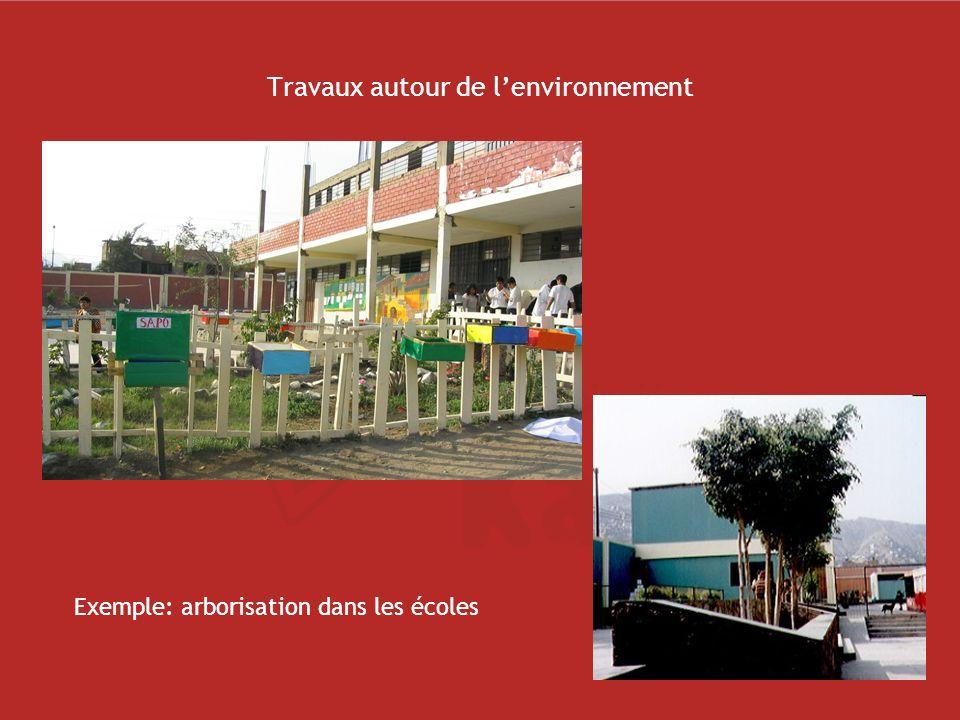 Travaux autour de l'environnement