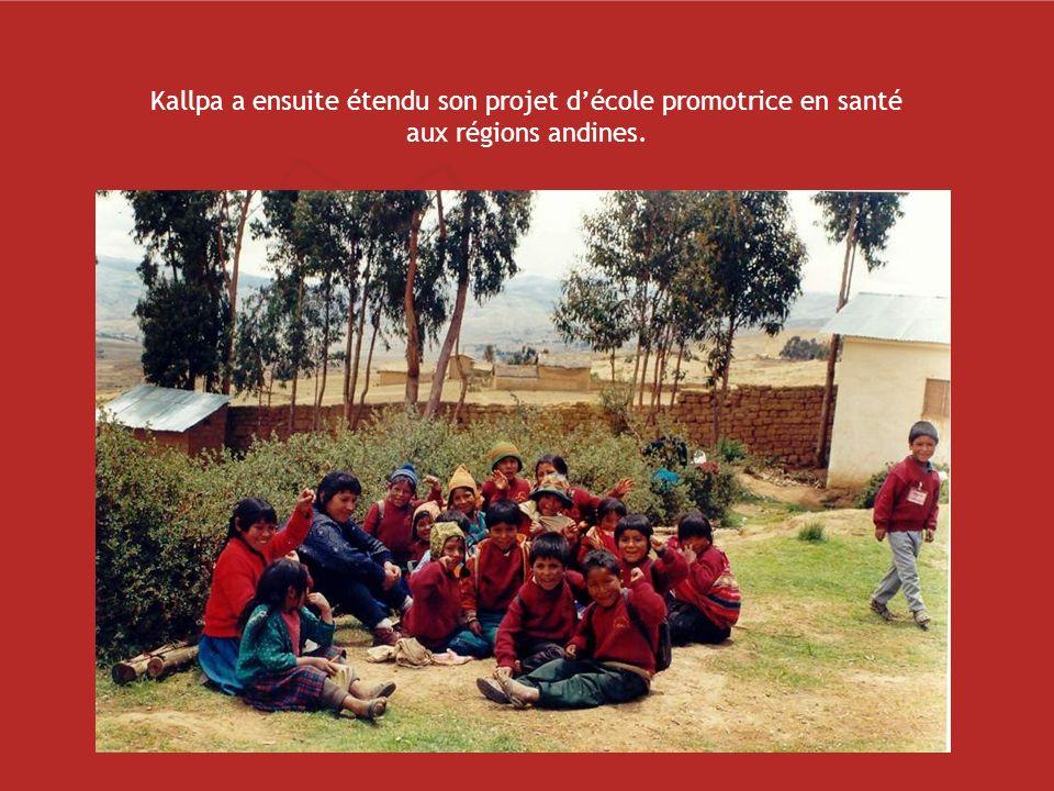 Kallpa a ensuite étendu son projet d'école promotrice en santé