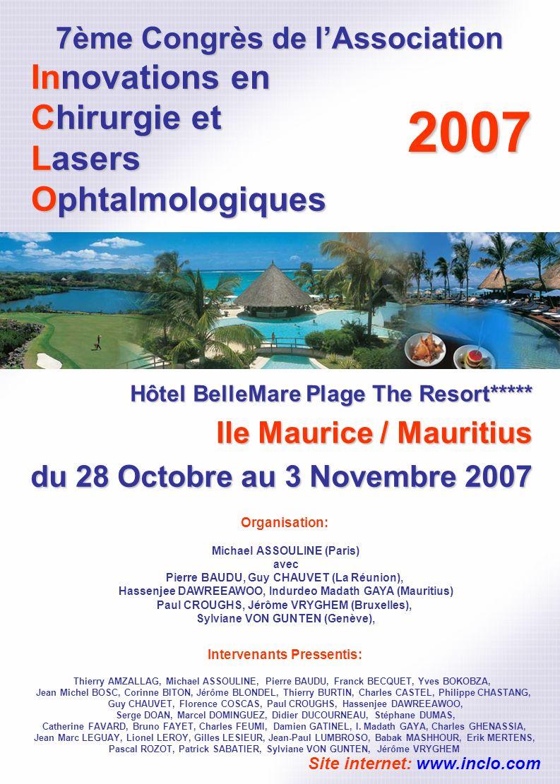 7ème Congrès de l'Association Innovations en Chirurgie et Lasers Ophtalmologiques
