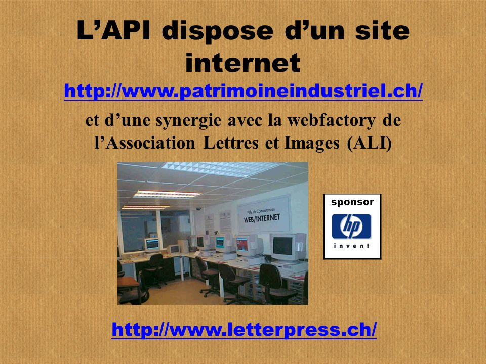 L'API dispose d'un site internet