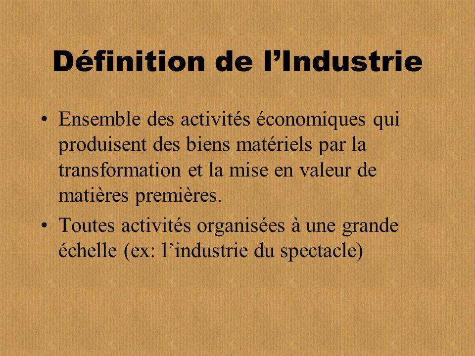 Définition de l'Industrie