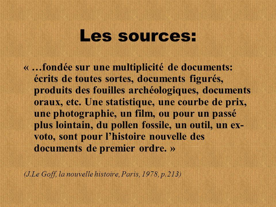 Les sources: