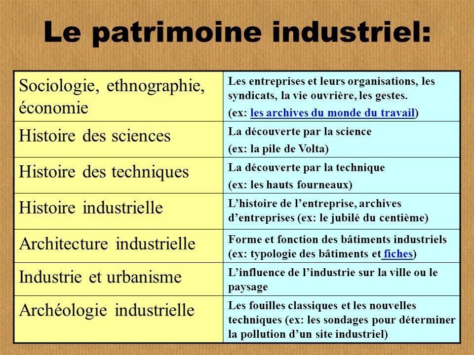 Le patrimoine industriel: