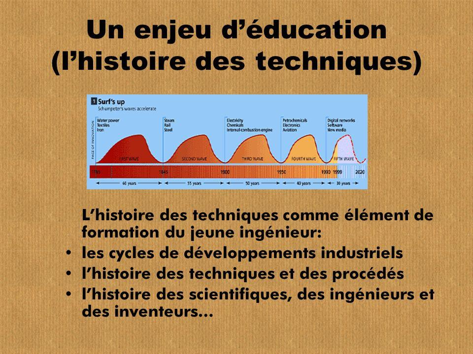 Un enjeu d'éducation (l'histoire des techniques)
