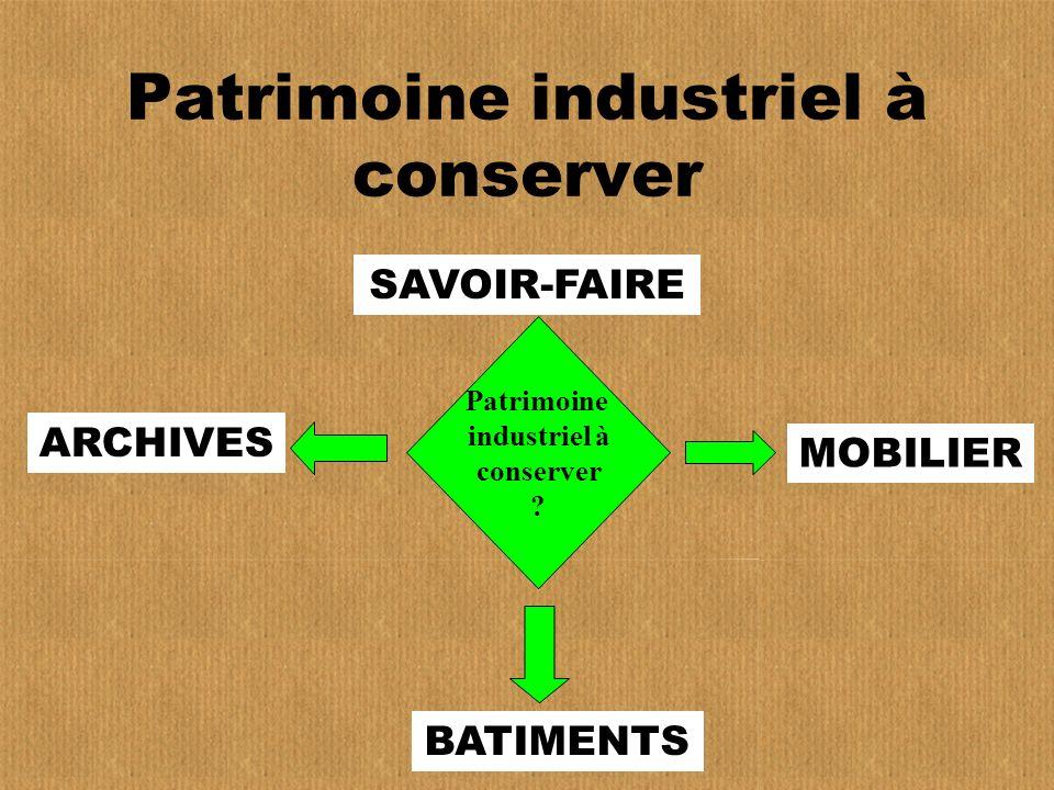 Patrimoine industriel à conserver