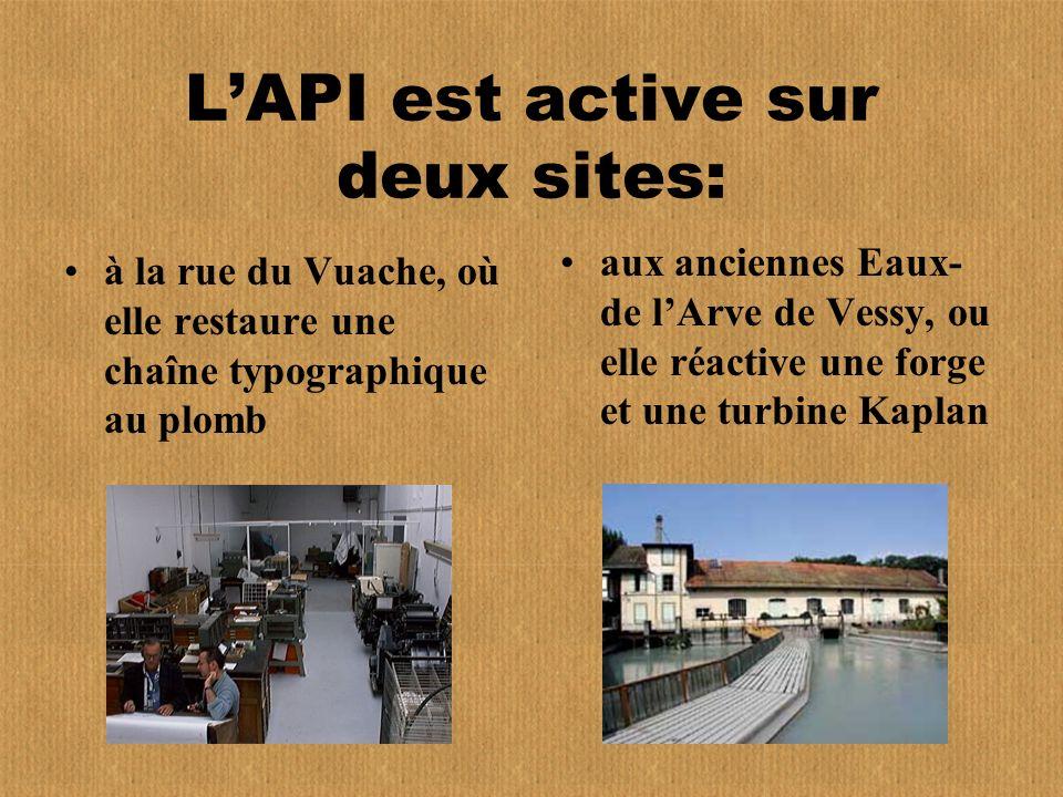 L'API est active sur deux sites: