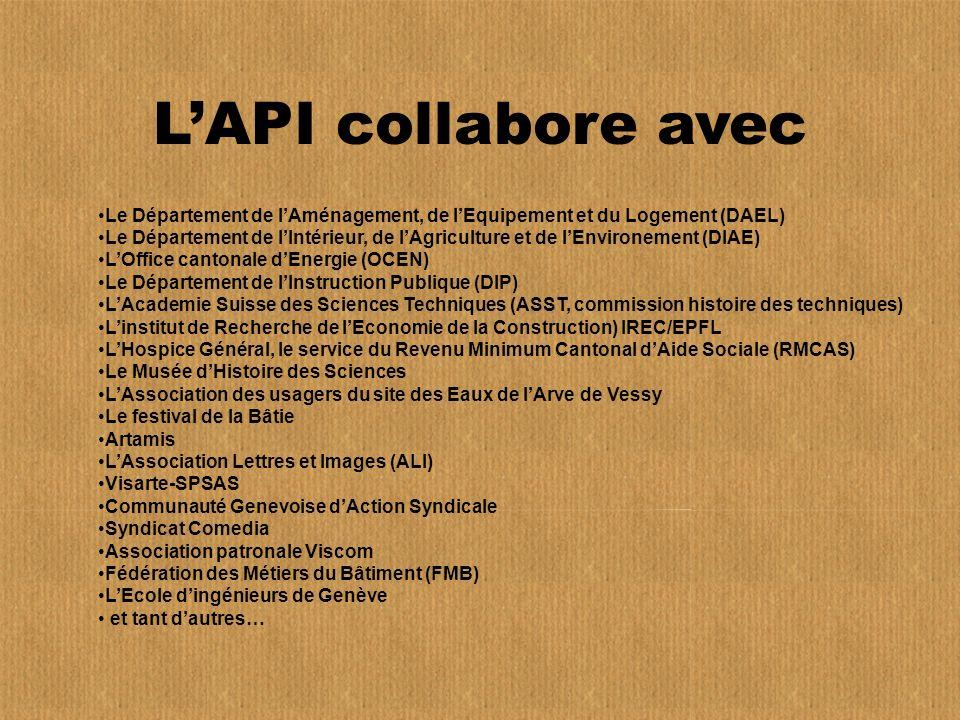 L'API collabore avec Le Département de l'Aménagement, de l'Equipement et du Logement (DAEL)