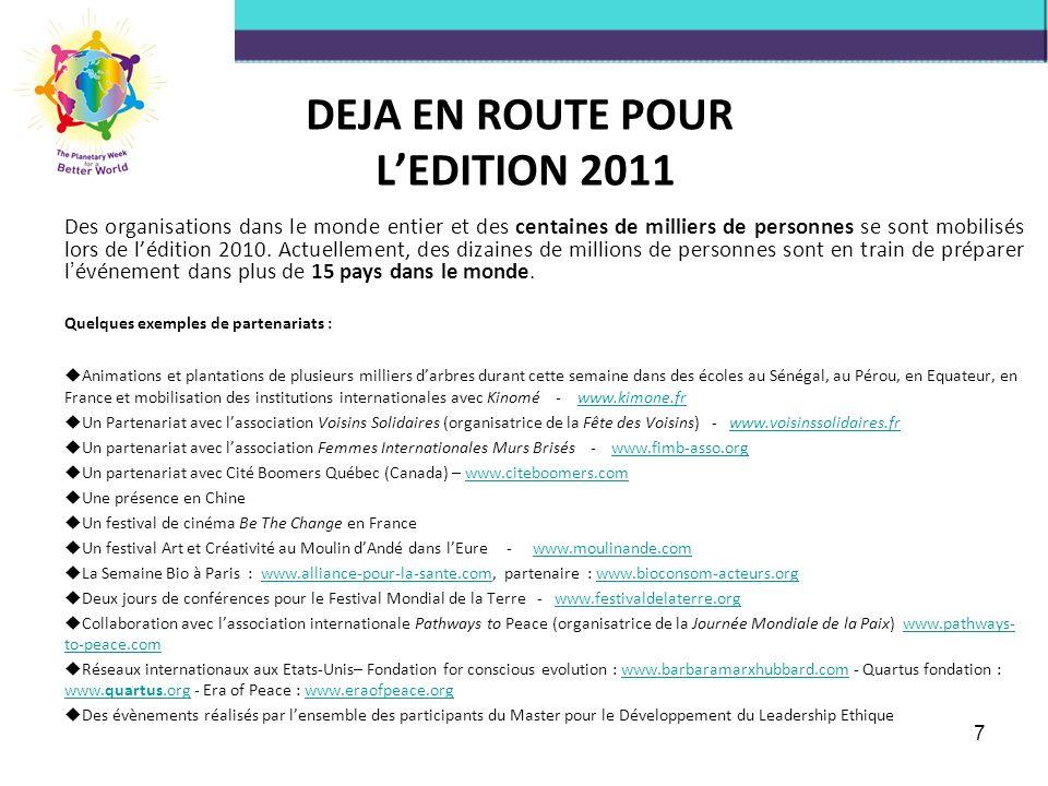 DEJA EN ROUTE POUR L'EDITION 2011