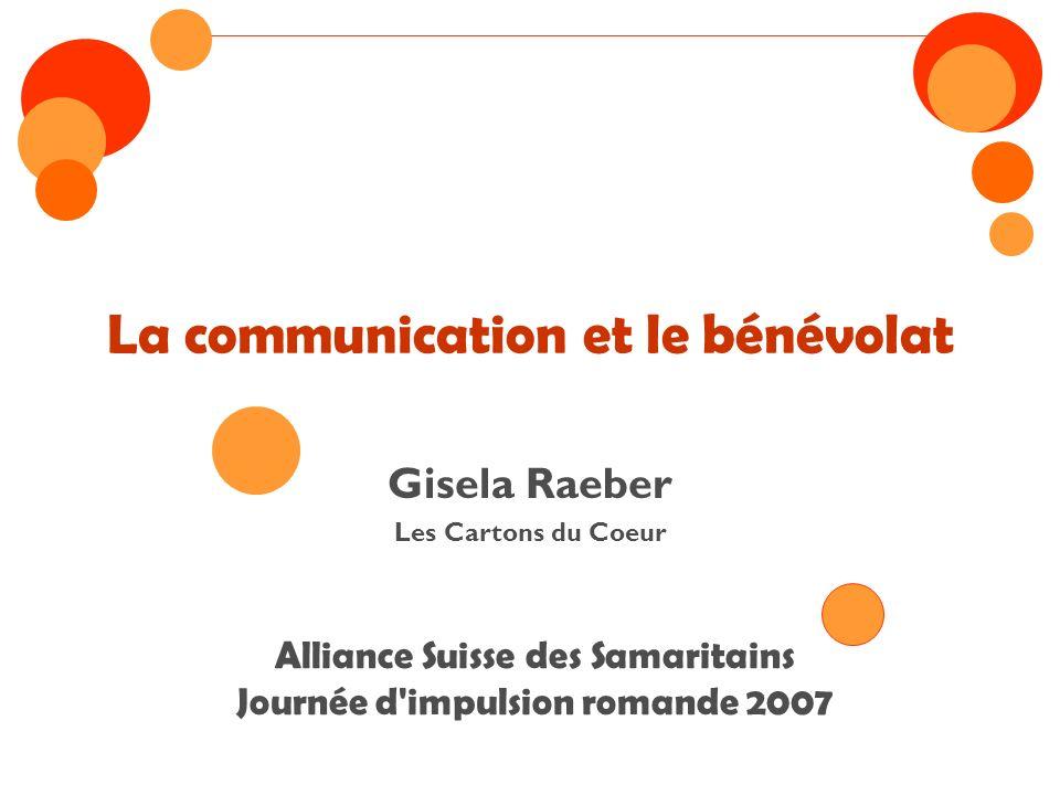 La communication et le bénévolat