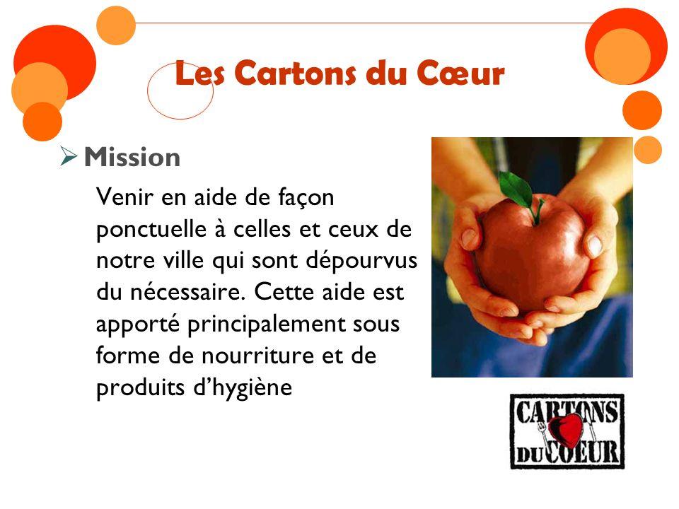 Les Cartons du Cœur Mission