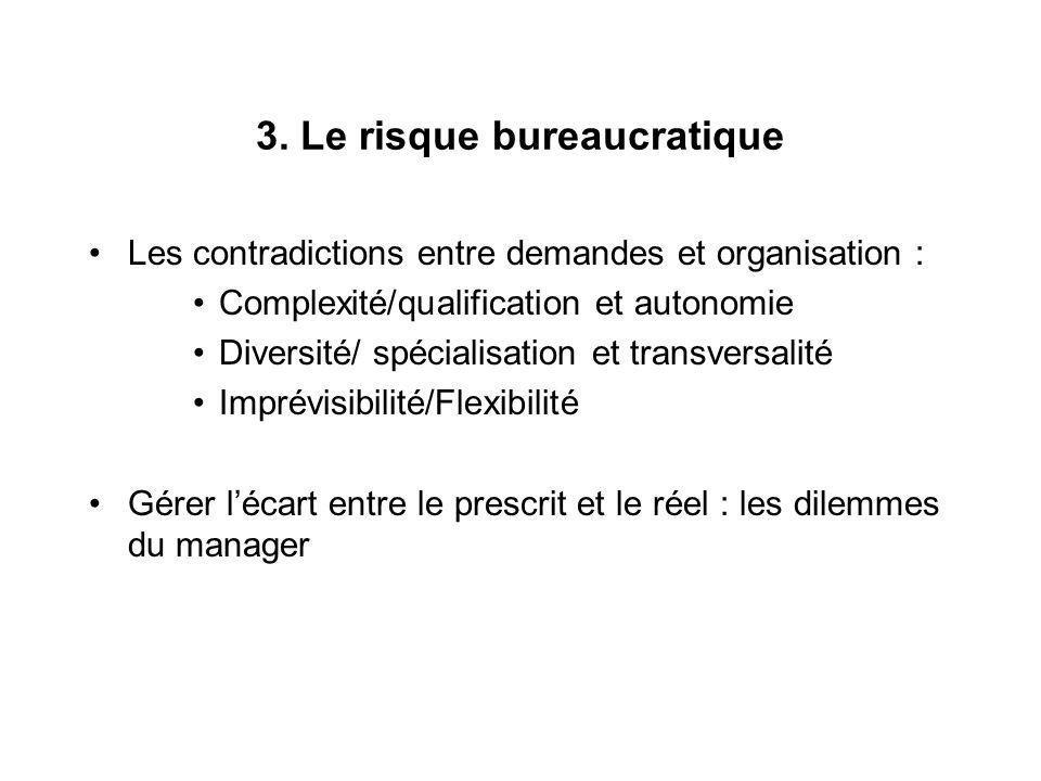 3. Le risque bureaucratique