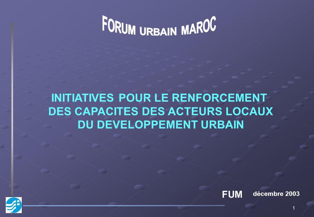 INITIATIVES POUR LE RENFORCEMENT DES CAPACITES DES ACTEURS LOCAUX