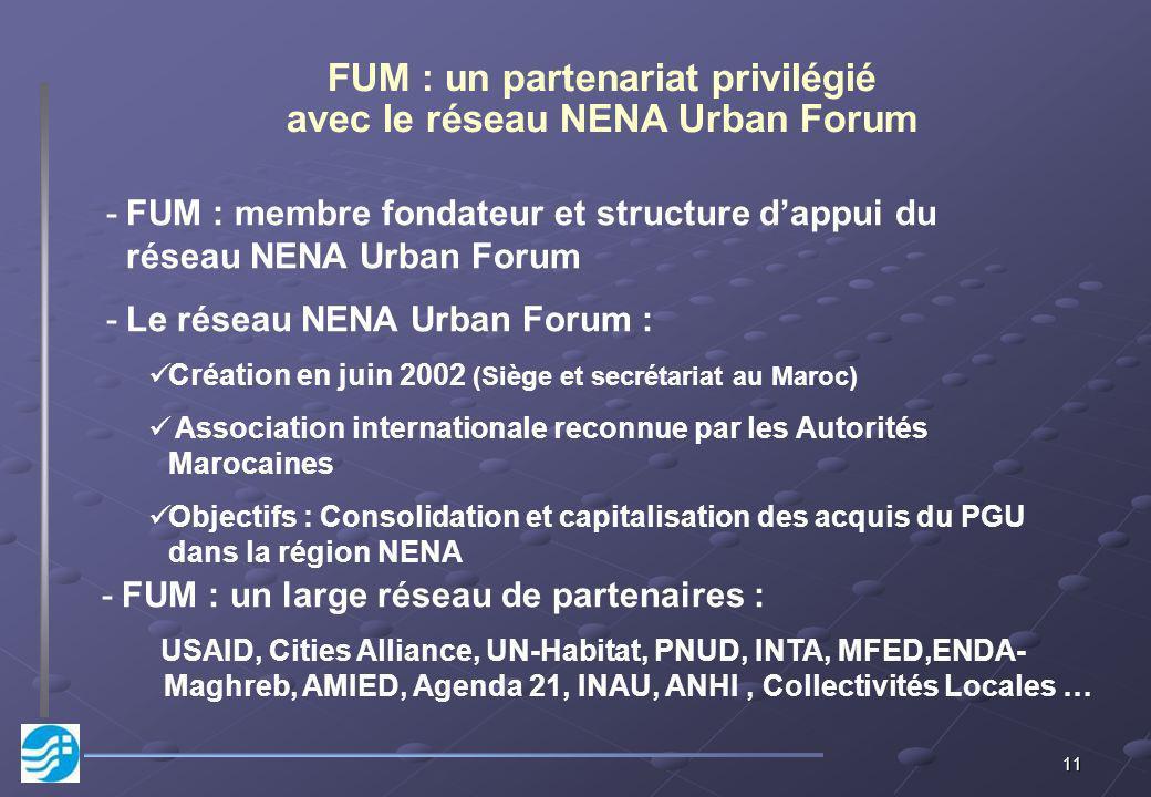FUM : un partenariat privilégié avec le réseau NENA Urban Forum