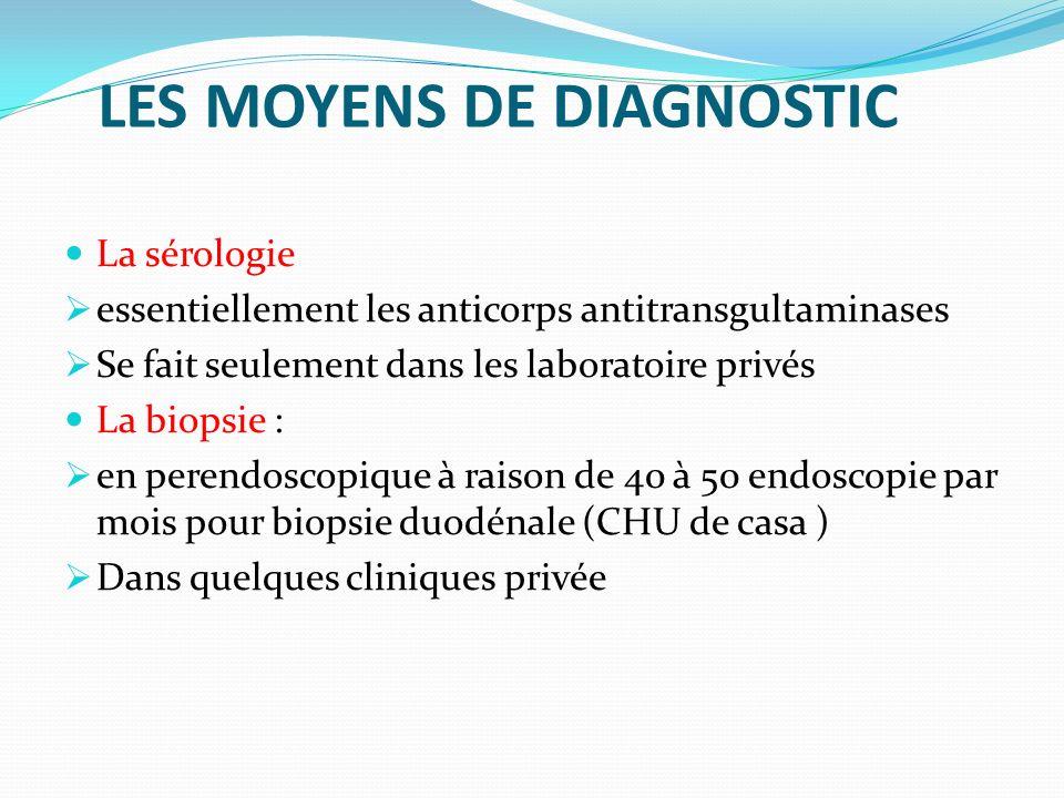 LES MOYENS DE DIAGNOSTIC