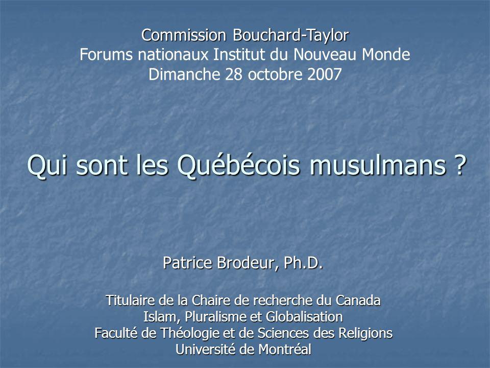 Qui sont les Québécois musulmans