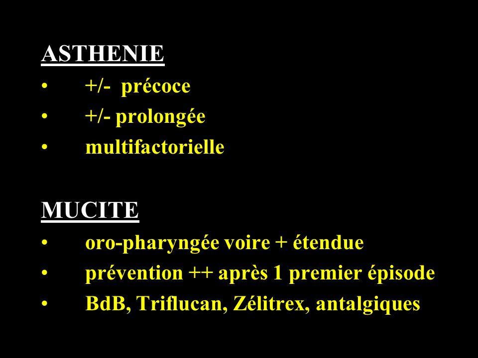 ASTHENIE MUCITE +/- précoce +/- prolongée multifactorielle