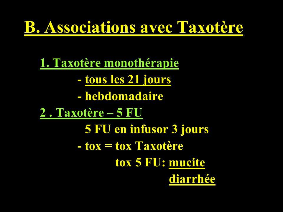 B. Associations avec Taxotère